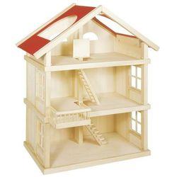 Drewniany duży domek dla lalek- aż 3 piętra