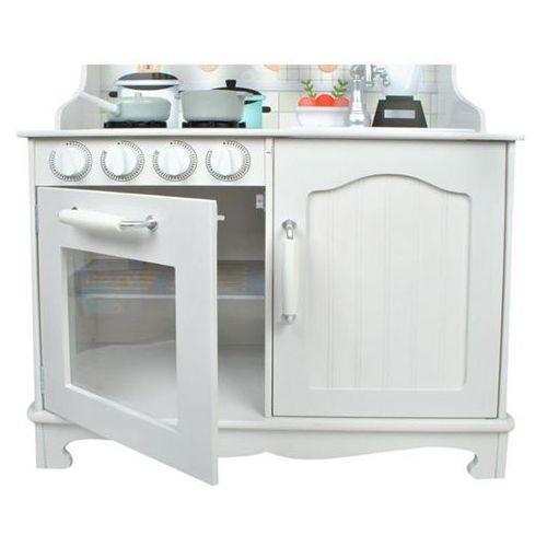 Kuchnie dla dzieci, Kuchnia drewniana mega kuchenka dla dzieci garnki