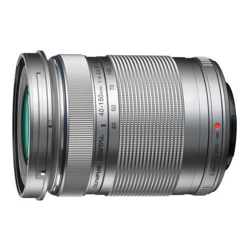 Obiektywy do aparatów, OLYMPUS M. 40-150 mm F4-5.6 R UV srebrny obiektyw z filtrem mocowanie Micro 4/3