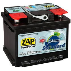 Akumulator ZAP Standard 44Ah 360A PRAWY PLUS