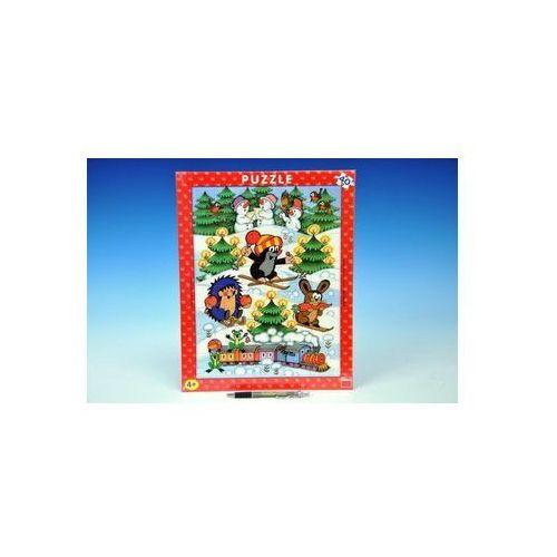 Puzzle, Puzzle deskové Krtek na sněhu 29x37cm 40dílků