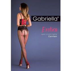 Gabriella erotica 667 carmen nocciola/nero rajstopy