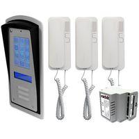 Domofony i wideodomofony, Zestaw 3-rodzinny panel domofonowy wielorodzinny z szyfratorem RADBIT BRC10 MOD