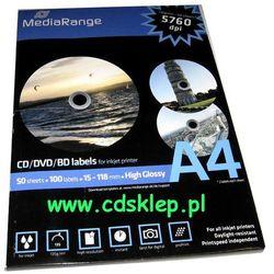 Etykiety na CD/DVD błyszczące full-face 100szt. MRINK132