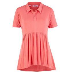 Shirt polo, fason o linii A, krótki rękaw bonprix dymny koralowy