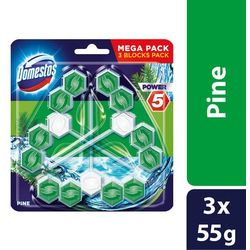 Kostka toaletowa Domestos Power 5 Pine 3 x 55 g