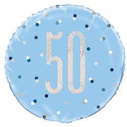 Balon foliowy niebieski - 50 - 46 cm - 1 szt.