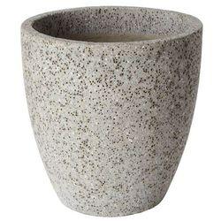 Donica Verve efekt cementu okrągła 40 cm szara