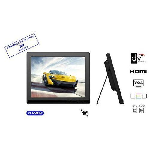 "Monitory samochodowe, NVOX FA1000 Monitor LCD 10"" cali LED HDMI DVI VGA AV 12V 230V"