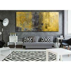 obrazy abstrakcyjne na ścianę - szaro żółte żywioły rabat 10%
