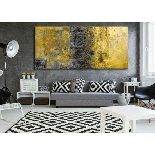 Antyki, obrazy abstrakcyjne na ścianę - szaro żółte żywioły