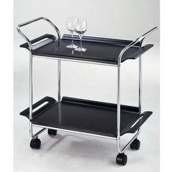 Wózek do serwowania, chrom/czarny