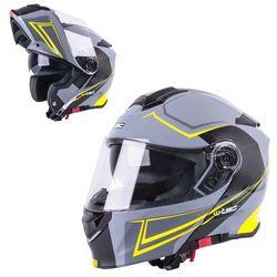 Szczękowy Kask motocyklowy W-TEC V271 + Blenda, Czarno-szary, XL (61-62)