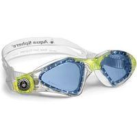 Okularki pływackie, Aquasphere okulary Kayenne junior niebieskie szkła, transparent-lime