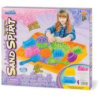 Kreatywne dla dzieci, SAND SPIRIT Zestaw z tacką budo. i zamki (MX0110828 RUSSEL)