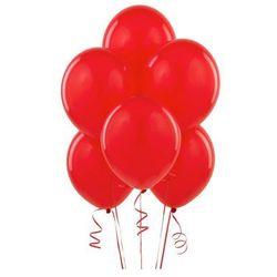 Balony lateksowe pastelowe czerwone - średnie - 100 szt.