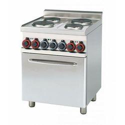 Kuchnia elektryczna z piekarnikiem | GN 1/1 | 9050W | 600x600x(H)900mm