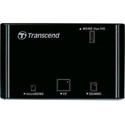 Czytnik kart pamięci, zewnętrzny, USB 2.0 Transcend P8, czarny