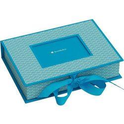 Pudełko na zdjęcia Seigaiha turkusowe