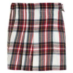 American Outfitters CHECK PLEAT Spódnica plisowana red