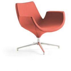 Fotel ENJOY, niskie oparcie, rdzawy czerwony
