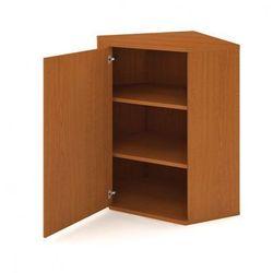 Szafka Select narożna wewnętrzna z drzwiami, lewa, 800 x 400 x 1152 mm, buk