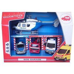 Zestaw pojazdów SOS w garażu