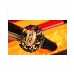 Miecz japoński samurajski ninja honsanmai do treningu, stal wysokowęglowa 1095 oraz warstwowana, hartowany glinką r330 marki Kuźnia mieczy samurajskich