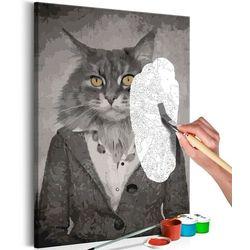 Obraz do samodzielnego malowania - elegancki kot marki Artgeist