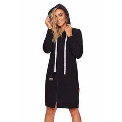 Szlafrok Damski Dn-nightwear SMZ.4136 czarny