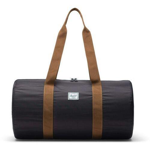 Herschel Torba podróżna - packable duffle black/saddle brown (02739)