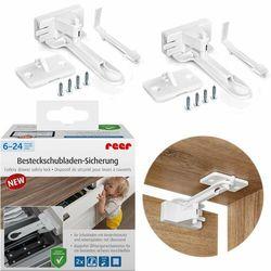 Zabezpieczenie szuflad samoprzylepne 3M 2szt REER (4013283710906)
