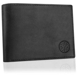 Betlewski Czarny klasyczny portfel męski ze skóry naturalnej (5907538205561)
