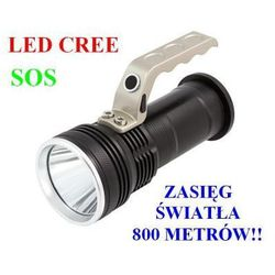 Bailong Profesjonalna akumulatorowa policyjna latarka szperacz (zasięg do 800m!!) led cree + stroboskop/sos.