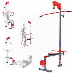 Wyciąg treningowy atlas górny+dolny+drążek do ćwiczeń ścienny z siedziskiem KSSL017