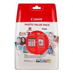 Tusze Canon Pixma TR7550/TR8550 TS6150/8150/9150 CLI-581 XL CMYK 4 x 8,3 ml plus papier foto