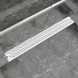 vidaXL Kratka odpływowa, liniowa, 930x140 mm, wzór fali, stal nierdzewna Darmowa wysyłka i zwroty