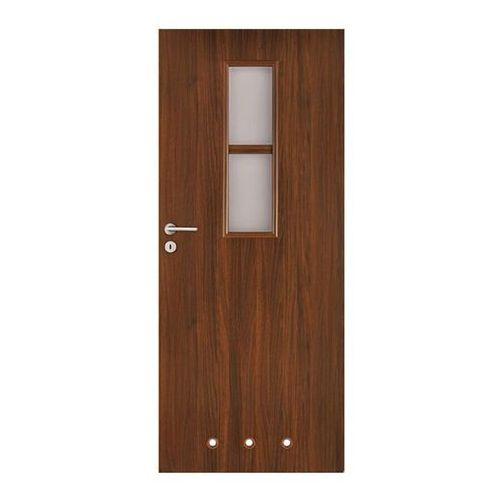 Drzwi wewnętrzne, Drzwi z tulejami Olga 80 prawe orzech