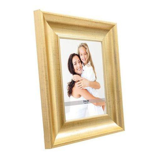 Ramki na zdjęcia, Ramka na zdjęcia 24 x 30 cm stare złoto