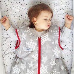 Śpiworek do spania świąteczne gwiazdy