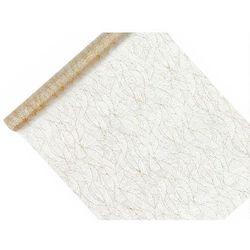 Organza z nadrukiem biała 0,48x9m 1 szt.