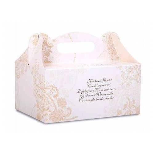 Pozostałe na ślub i wesele, Ozdobne pudełko na ciasto weselne 1sztuka
