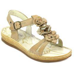 Sandały damskie Helios 669 - brąz