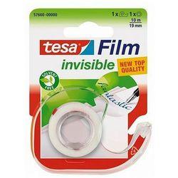 Taśma biurowa mleczna TESA Invisible 10m x 19mm z dyspenserem 57660-00000-01