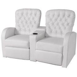 vidaXL Fotele kinowe biała, sztuczna skóra