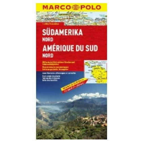 Mapy i atlasy turystyczne, Ameryka Południowa - północ 1:4 mln - mapa Marco Polo (opr. miękka)