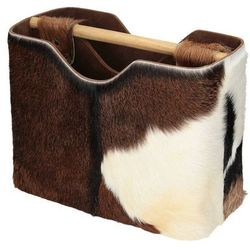 Dekoria Gazetnik Goat Leather 40x20x30cm, 40x20x30cm