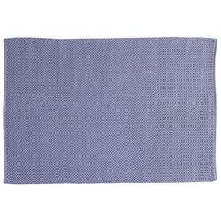 Ręcznie tkany dywan HALK z bawełny – 160 × 230 cm – kolor szaro-niebieski