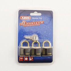 Kłódka mosiężna ABUS 718/30 Triples B 3 na 1 klucz!