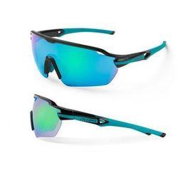 Okulary Accent Reflex czarno-turkusowe, 2 pary soczewek - czarno - turkusowe